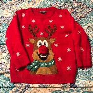 Cute holiday sweater (boys size 4-5)